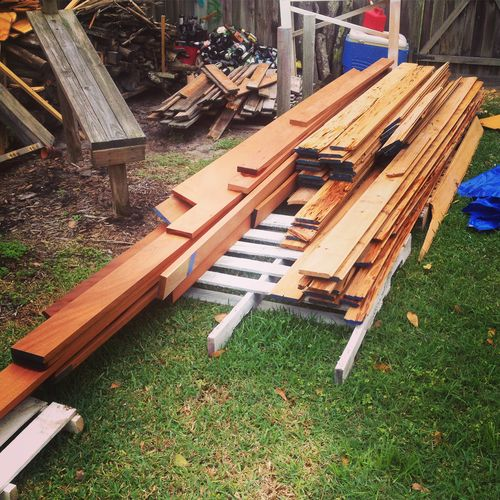 ... Store Wood OUTSIDE, Since I Donu0027t Have Any Other Options Right Now 4)  What Is The Best Way To Clean, Prep, And Work With Wood In The High  Humidity And ...