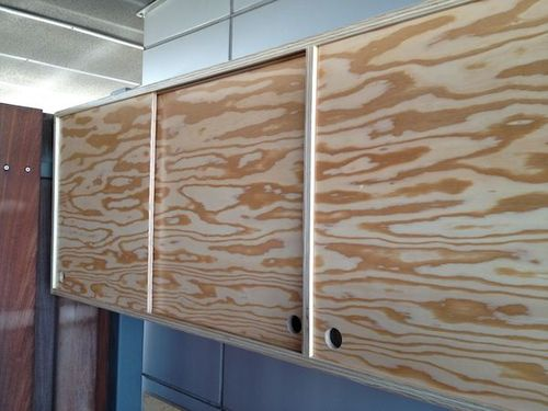 Plywood Cabinet With Sliding Door How To By Kal 13