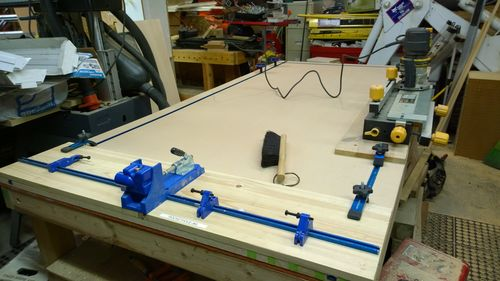 Router table build 5 cabinet build by bkseitz for Building kitchen cabinets with kreg jig