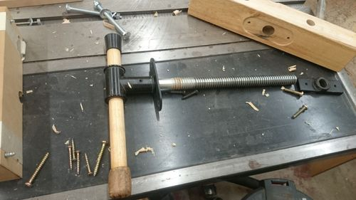 Harbor Freight Workbench Improvement 1 Wagon Vise In Progress By