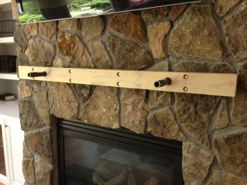 Solid Beam Fireplace Mantle Mounting Info Included By