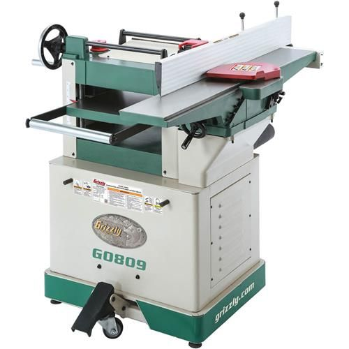 grizzly g0809 - combination jointer/planer with fixed tables - by ...