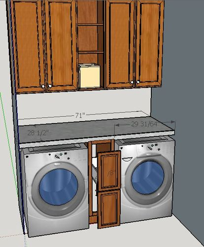 ... Base Cabinet With Pull Out Drawers That Fits Between The Washer And  Dryer. Before I Bolt The Base Cabinet To The Wall, Iu0027m Trying To Figure Out  How To ...