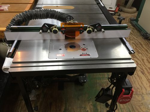 Excalibur router table extension by gittyup lumberjocks the extension has several threaded bosses underneath that come in handy for attaching things greentooth Image collections