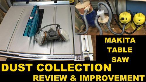 Makita table saw dust collection review improvement by daniel makita table saw dust collection review improvement by daniel lumberjocks woodworking community greentooth Image collections