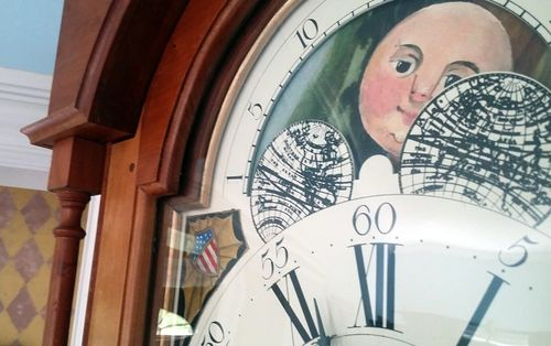 Tall Case Clock with Painted Moon Dial.... : Woodworking Projects at LumberJocks.com - howlDb