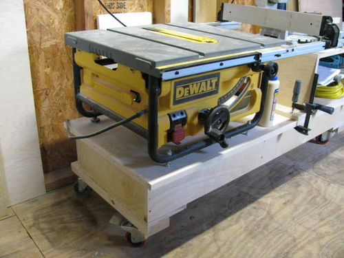 I will be adding a shelf to the back of the saw to hold my end cuts I hate it when wood falls behind the saw while cutting. & Setting up my new small shop #1: Table for my dewalt 745 - by htl ...