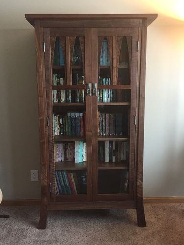 Hereu0027s One My Personal Favorites, Itu0027s A Walnut Bookcase I Made For My Wife.