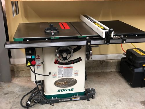 "sold - for sale: grizzly g0690 - 10"" 3hp 220v cabinet table saw - by ..."