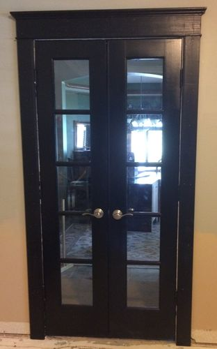 Home Office Buildout 4 French Doors Refinish By Scarpenter002