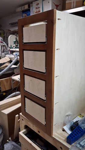 ... Side Of The Cabinet Will Hold The Face Frame Securely Until The Glue  Dries. There Have Been Times That I Removed The Screws After The Glue Had  Plenty Of ...