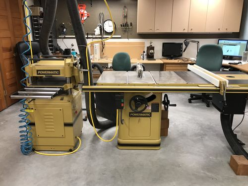 Powermatic 66 power saw and Powermatic 15 planer pricing - by