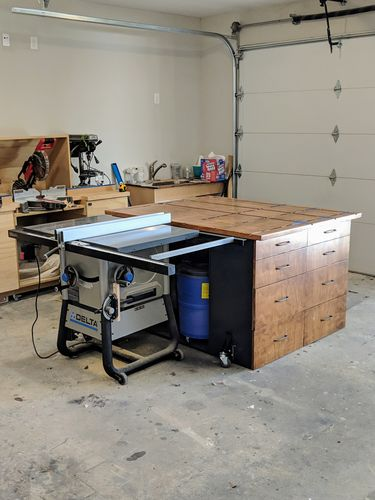 Delta 36-725 table saw table height? - by jlozan2