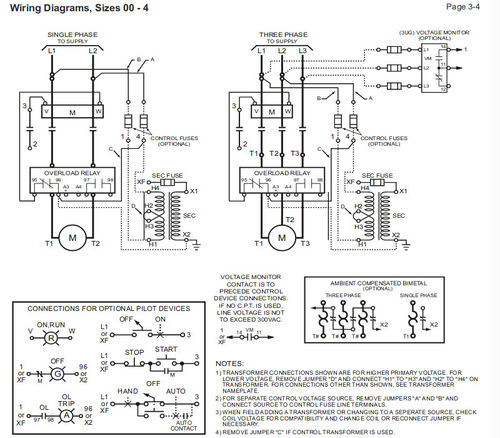 Wiring Motor Starter With Control Station For Jointer By