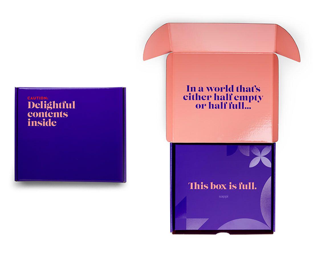 Shipper box for Sappi's Holiday Kit.