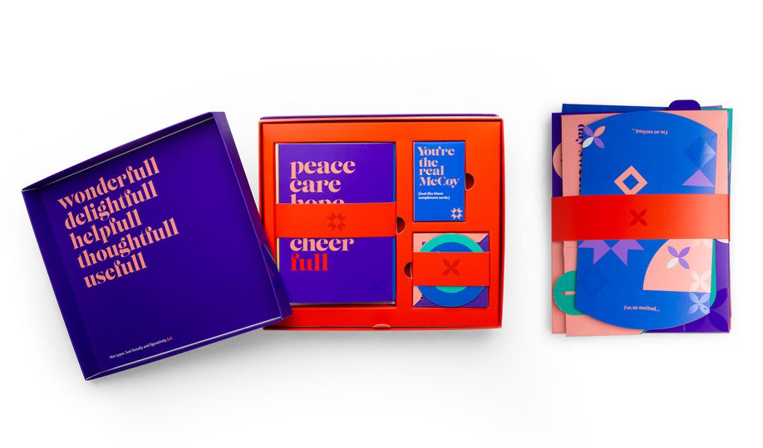 Box bundle for Sappi's Holiday Kit.