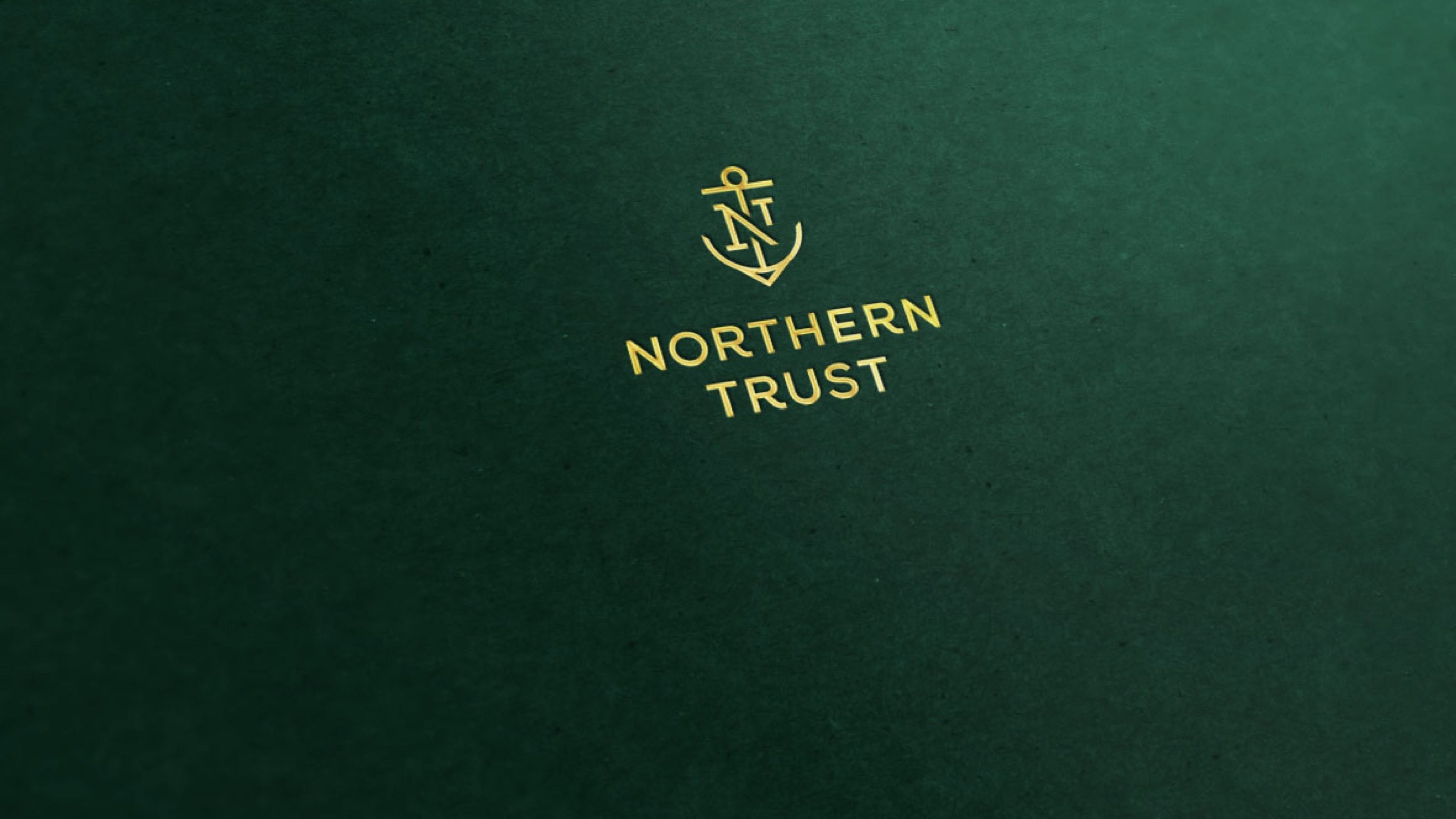 Northern Trust logo foil stamped