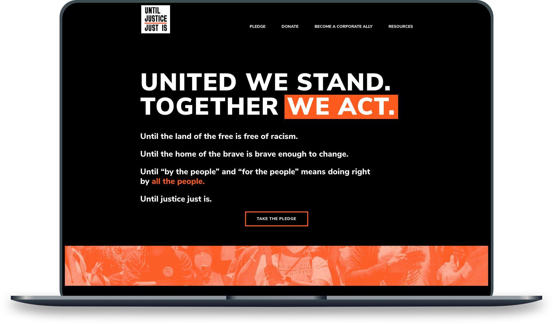 Until Justice Just Is website design