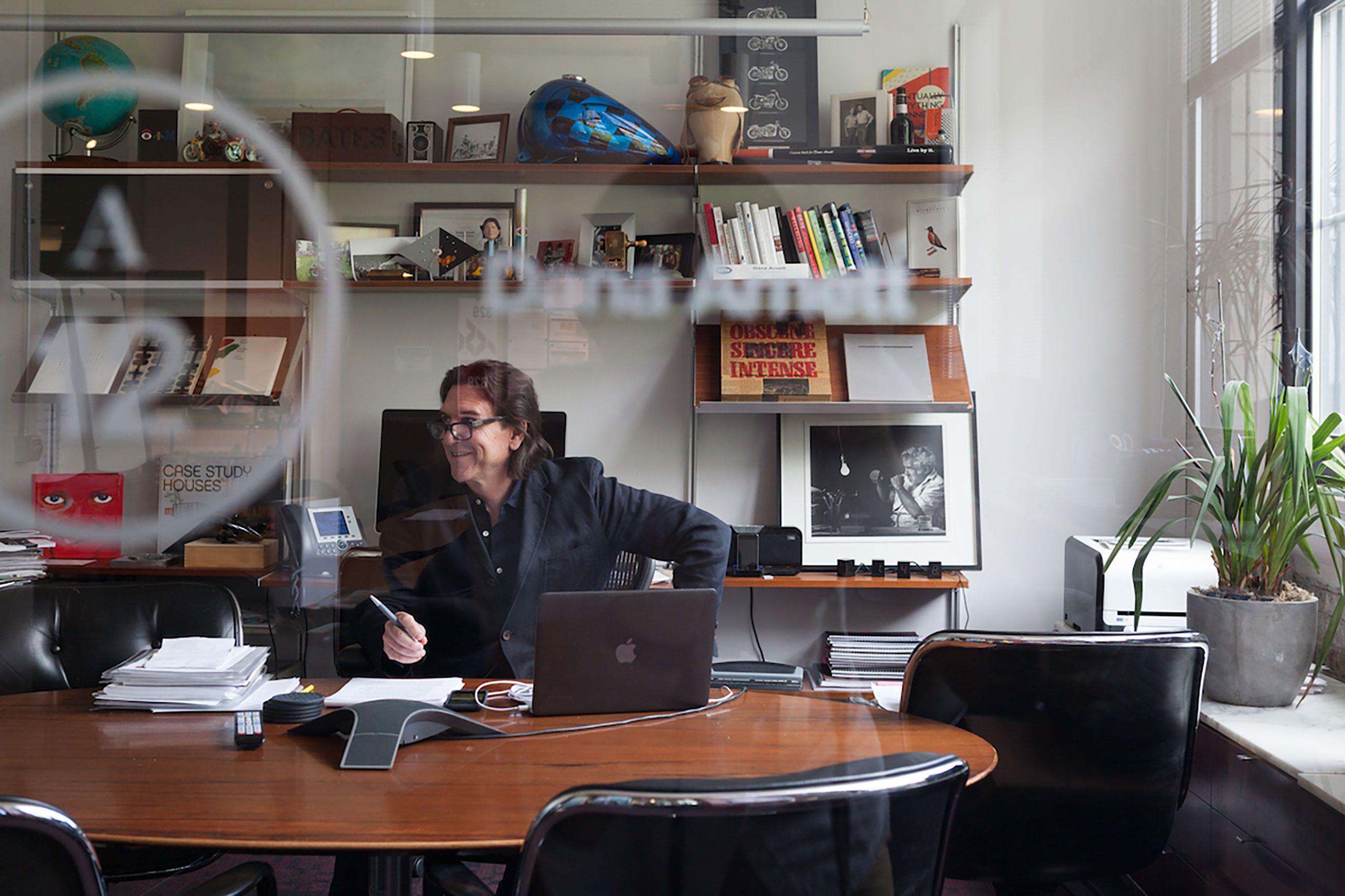Dana Arnett in his office