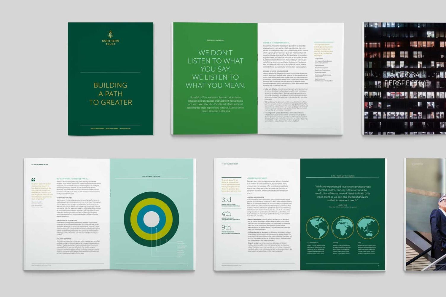 Northern Trust brochure interior spreads