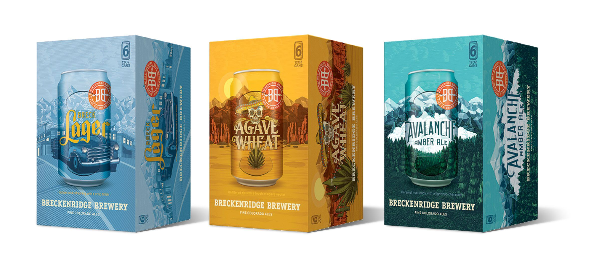Packaging spread for Breckenridge Brewery cases