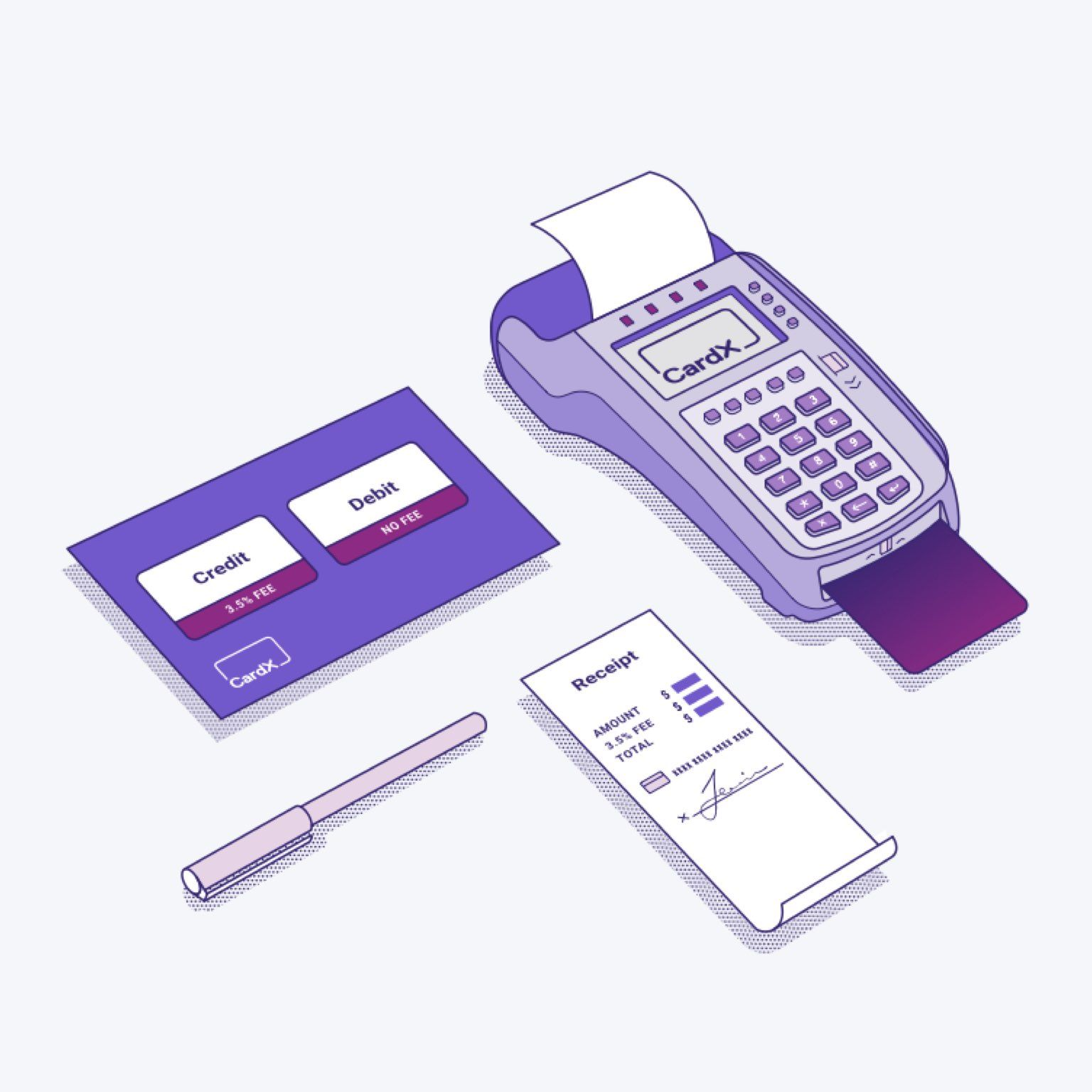 CardX product illustrations