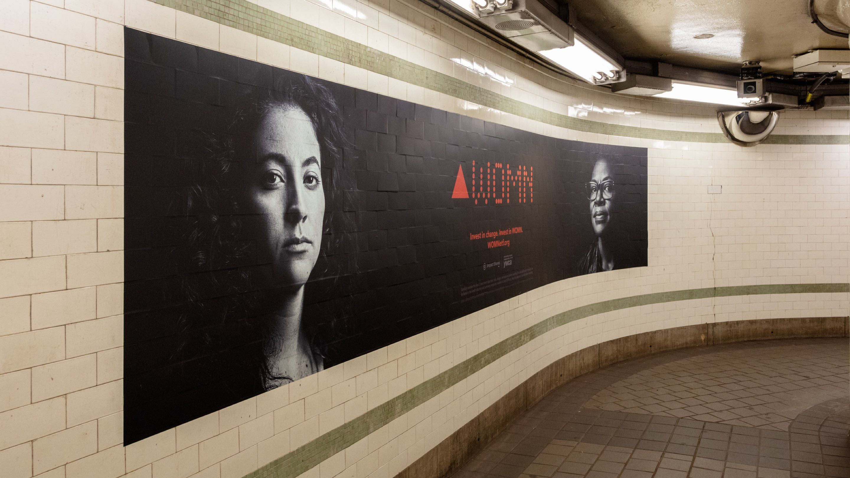 Subway poster for Impact Shares' WOMN campaign
