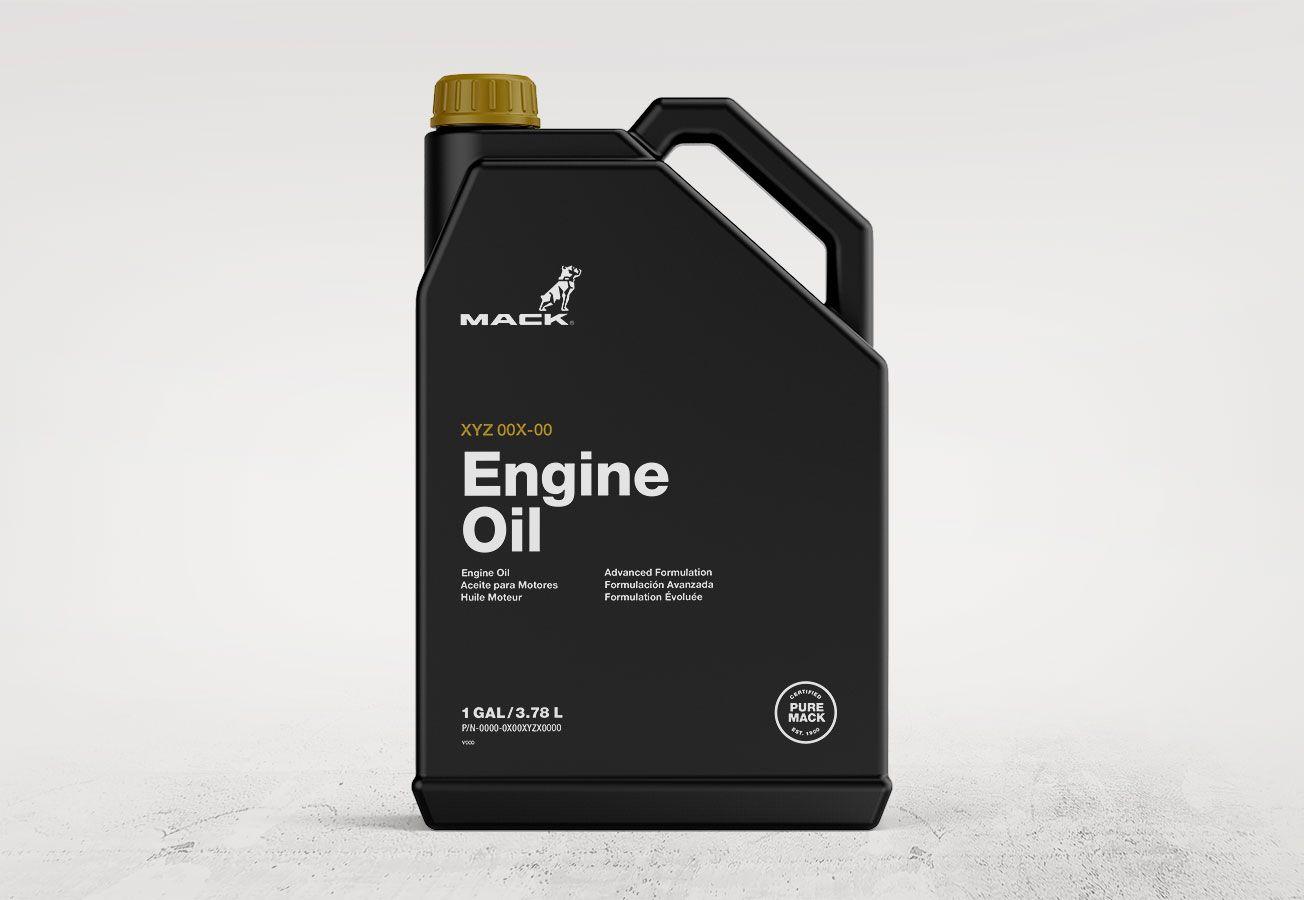 Mack Trucks engine oil package design