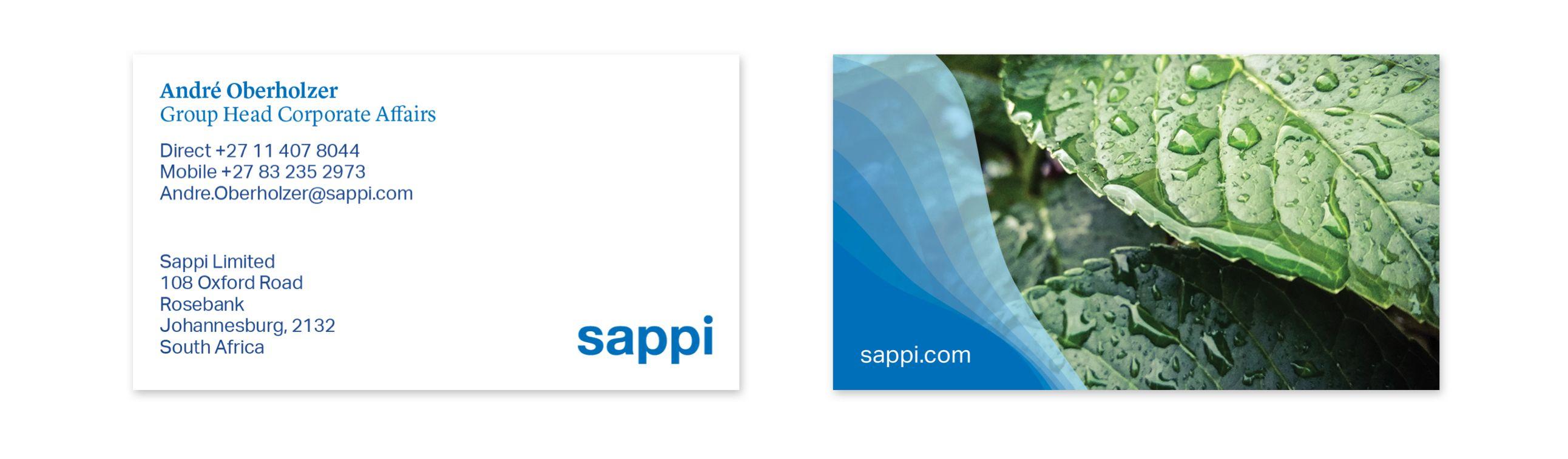 Sappi Business Card Design