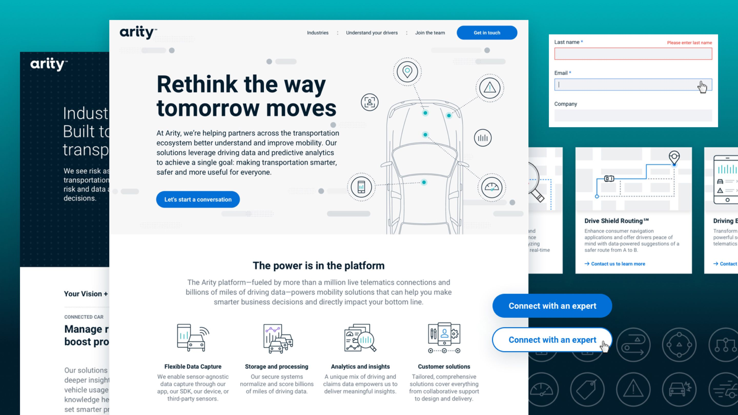 Arity website design system