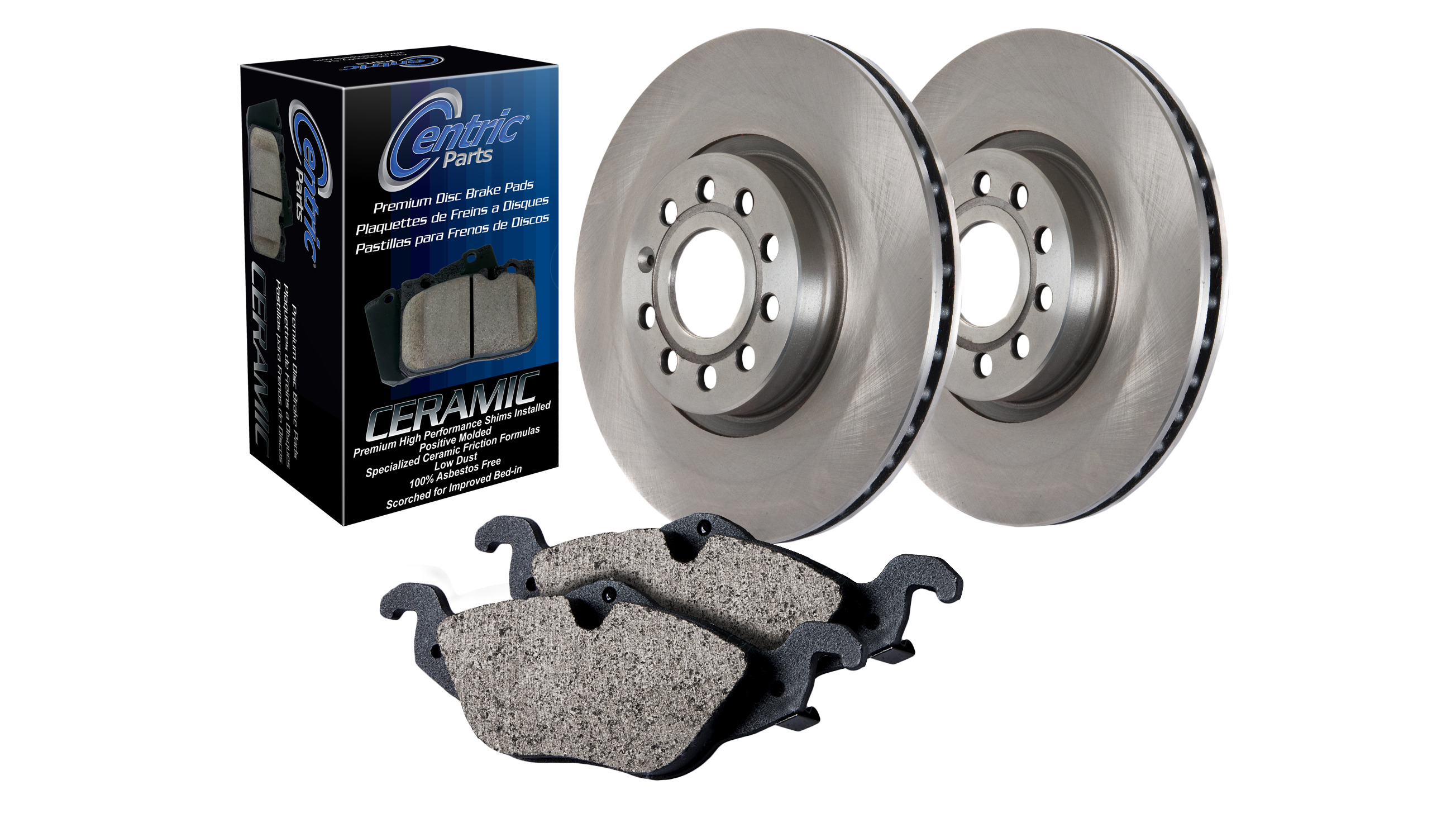 2005 For Nissan X-Trail Rear Disc Brake Rotors and Ceramic Brake Pads Stirling
