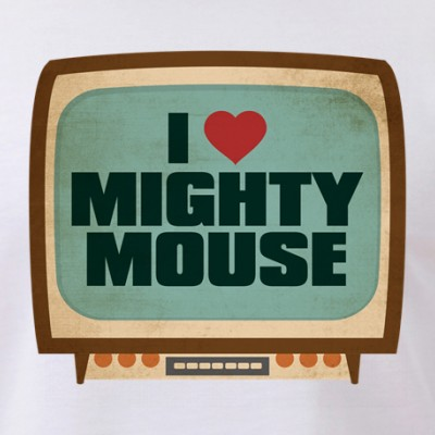 Retro I Heart Mighty Mouse