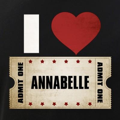I Heart Annabelle Ticket