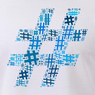 Blue Hashtag Cloud