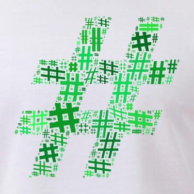 Green Hashtag Cloud