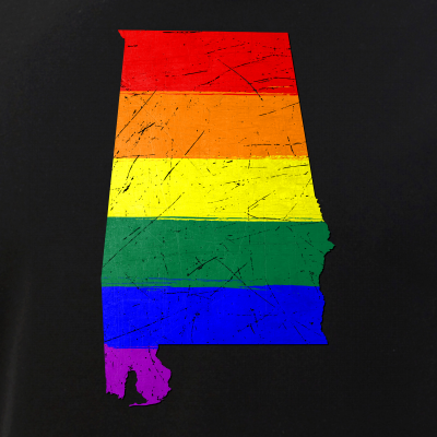Alabama Silhouette LGBTQ Pride Flag