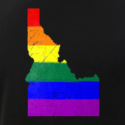 Idaho Silhouette LGBT Pride Flag