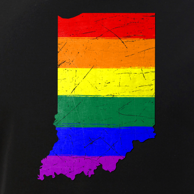 Indiana Silhouette LGBT Pride Flag