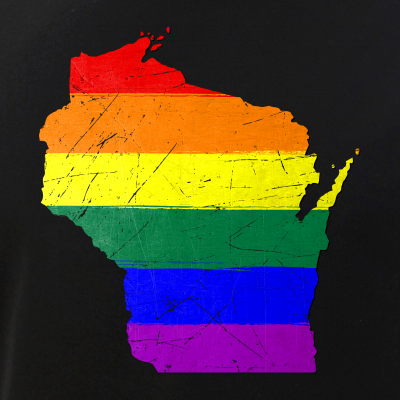 Wisconsin Silhouette LGBT Pride Flag