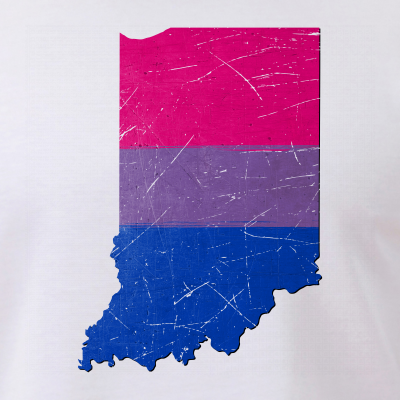 Indiana Silhouette Bisexual Pride Flag