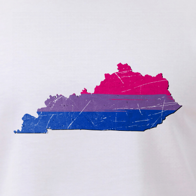 Kentucky Silhouette Bisexual Pride Flag