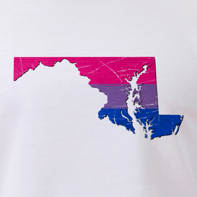 Maryland Silhouette Bisexual Pride Flag