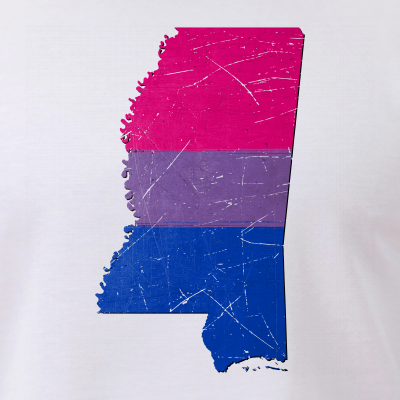 Mississippi Silhouette Bisexual Pride Flag