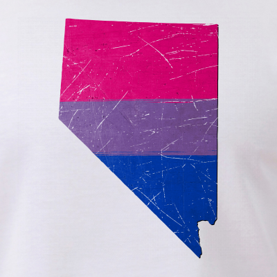 Nevada Silhouette Bisexual Pride Flag