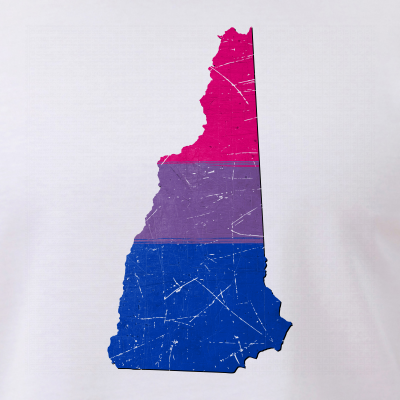 New Hampshire Silhouette Bisexual Pride Flag
