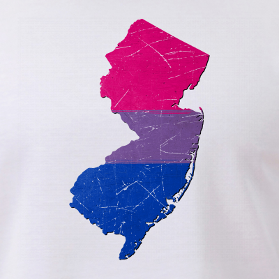 New Jersey Silhouette Bisexual Pride Flag