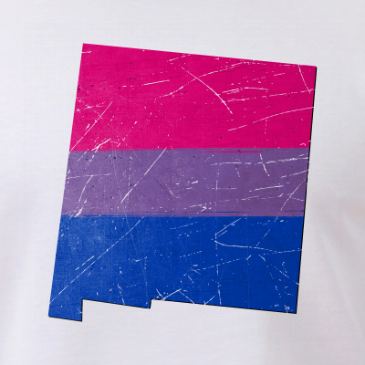 New Mexico Silhouette Bisexual Pride Flag
