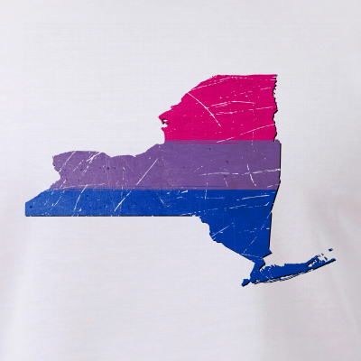 New York Silhouette Bisexual Pride Flag