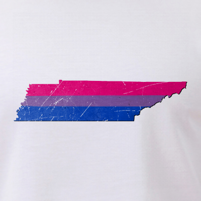Tennessee Silhouette Bisexual Pride Flag