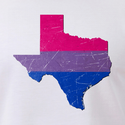Texas Silhouette Bisexual Pride Flag